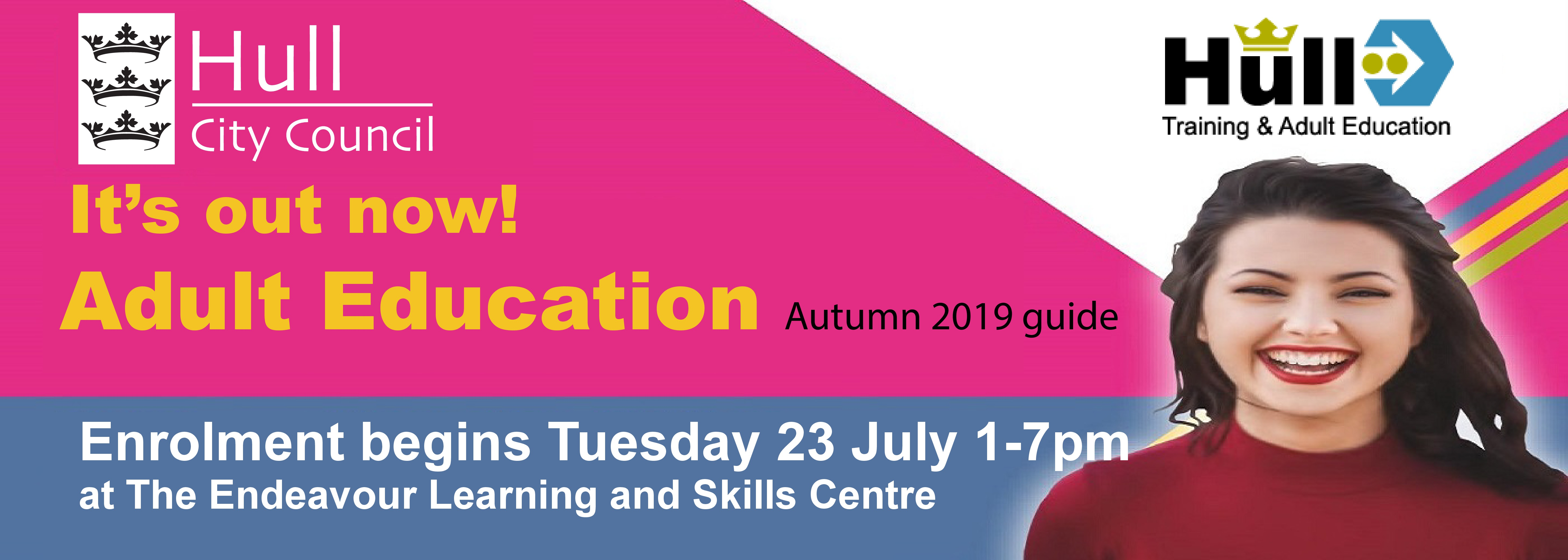 Adult Education Autumn 2019 guide - out now