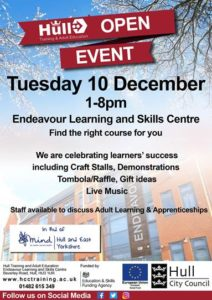 Hull Training & Adult Education Open Event Flyer